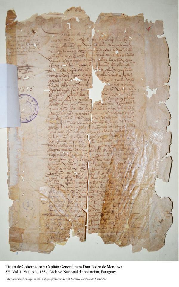 Titulo Pedro de Mendoza_1534